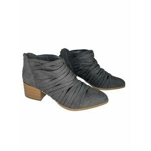Fergalicious Iggy Ankle Bootie suade grey 6 NEW